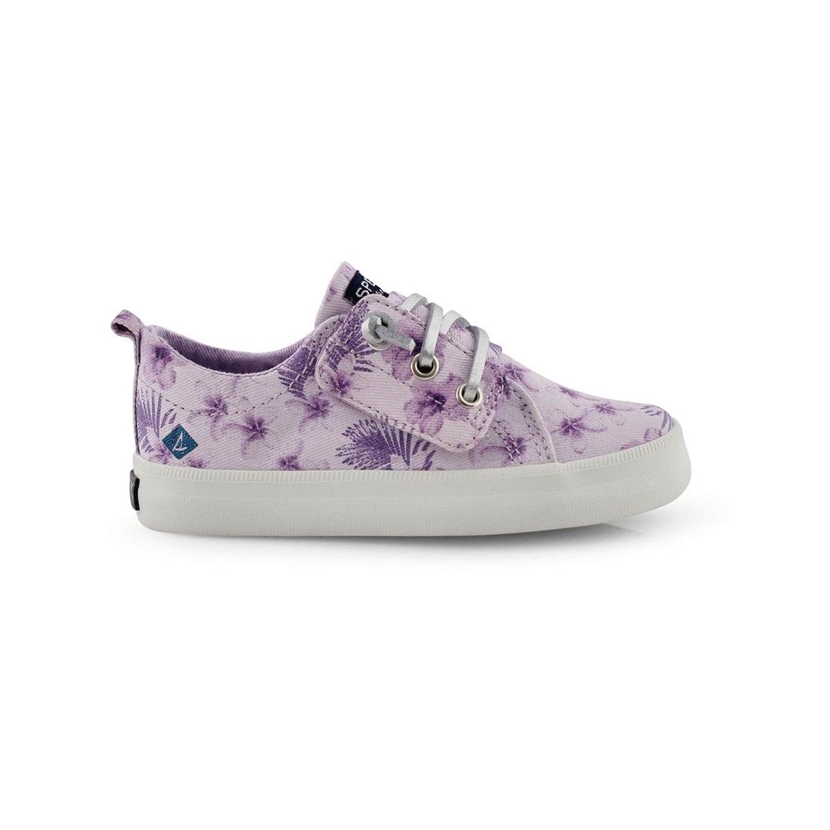Inf-g Crest Vibe purple print sneaker