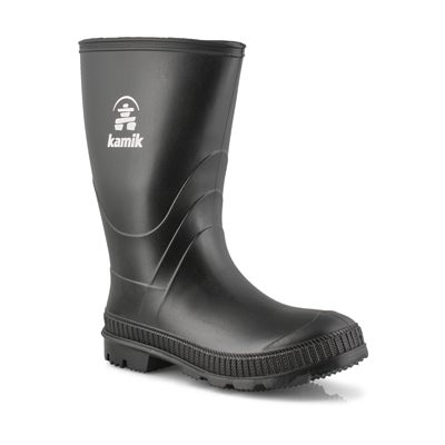 Bys Stomp black waterproof rain boot
