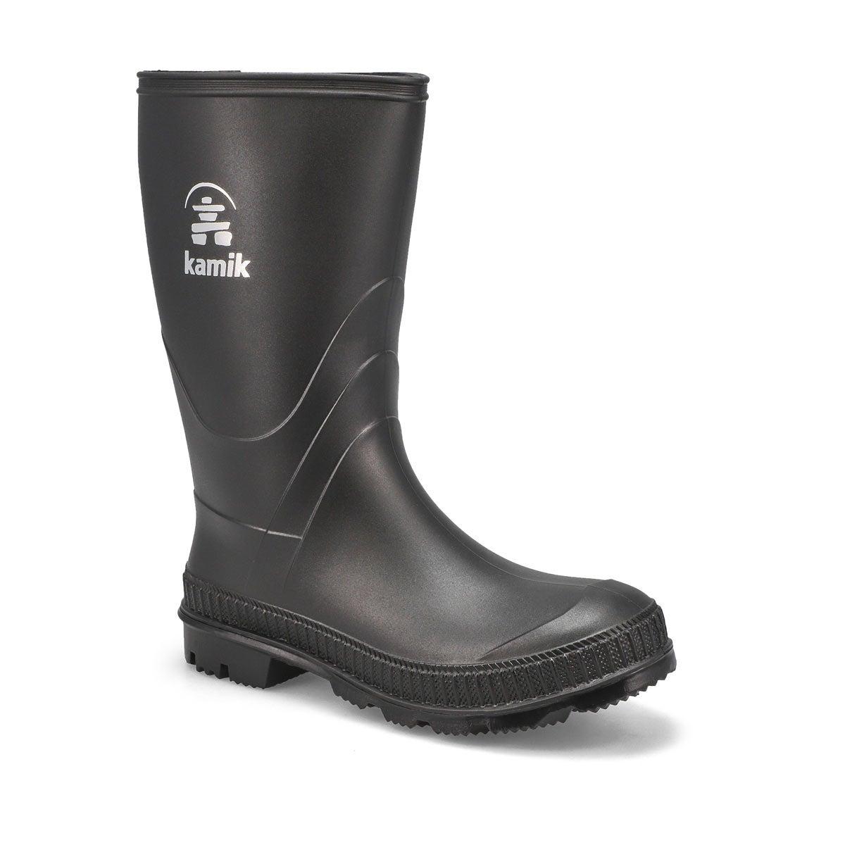 Bys Stomp black waterproof rain boot