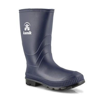 Bys Stomp navy waterproof rain boot