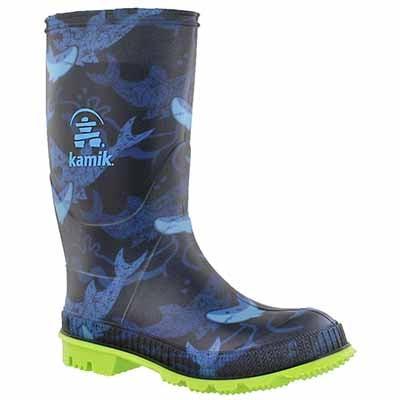 Kamik Bottes de pluie STOMP2, imprimé bleu, garçons