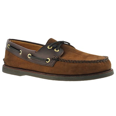 Sperry Men's GOLD AUTHENTIC ORIGINAL 2-Eye brn boat shoes