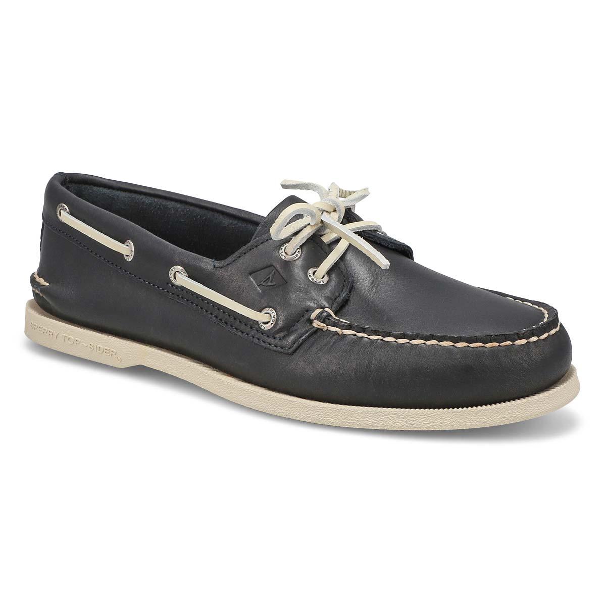 Men's AUTHENTIC ORIGINAL 2-eye navy boat shoes