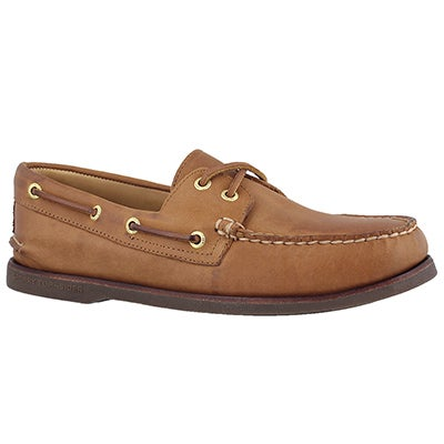 Mns Gold A/O 2-Eye tan boat shoe