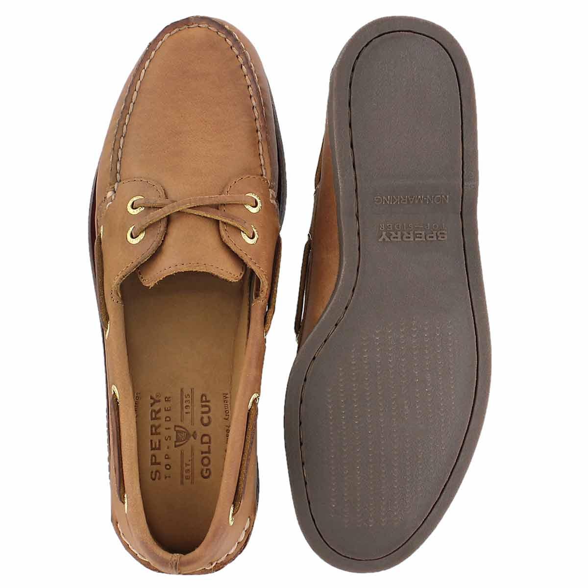 Mns Gold A/O 2-Eye tan boat shoe