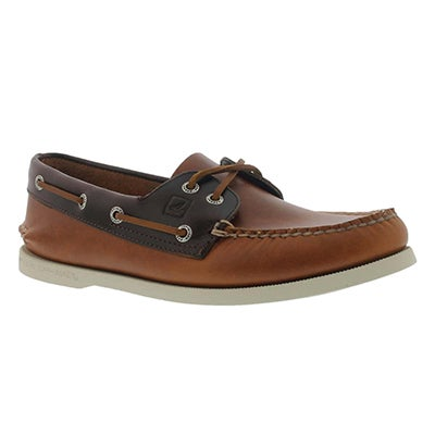 Sperry Men's AUTHENTIC ORIGINAL CYCLONE brown boat shoes