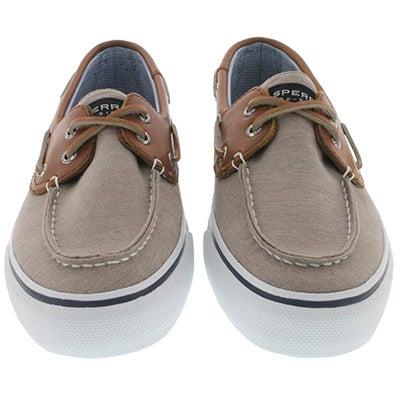 Sperry Men's BAHAMA 2-Eye chambray beige boat shoes