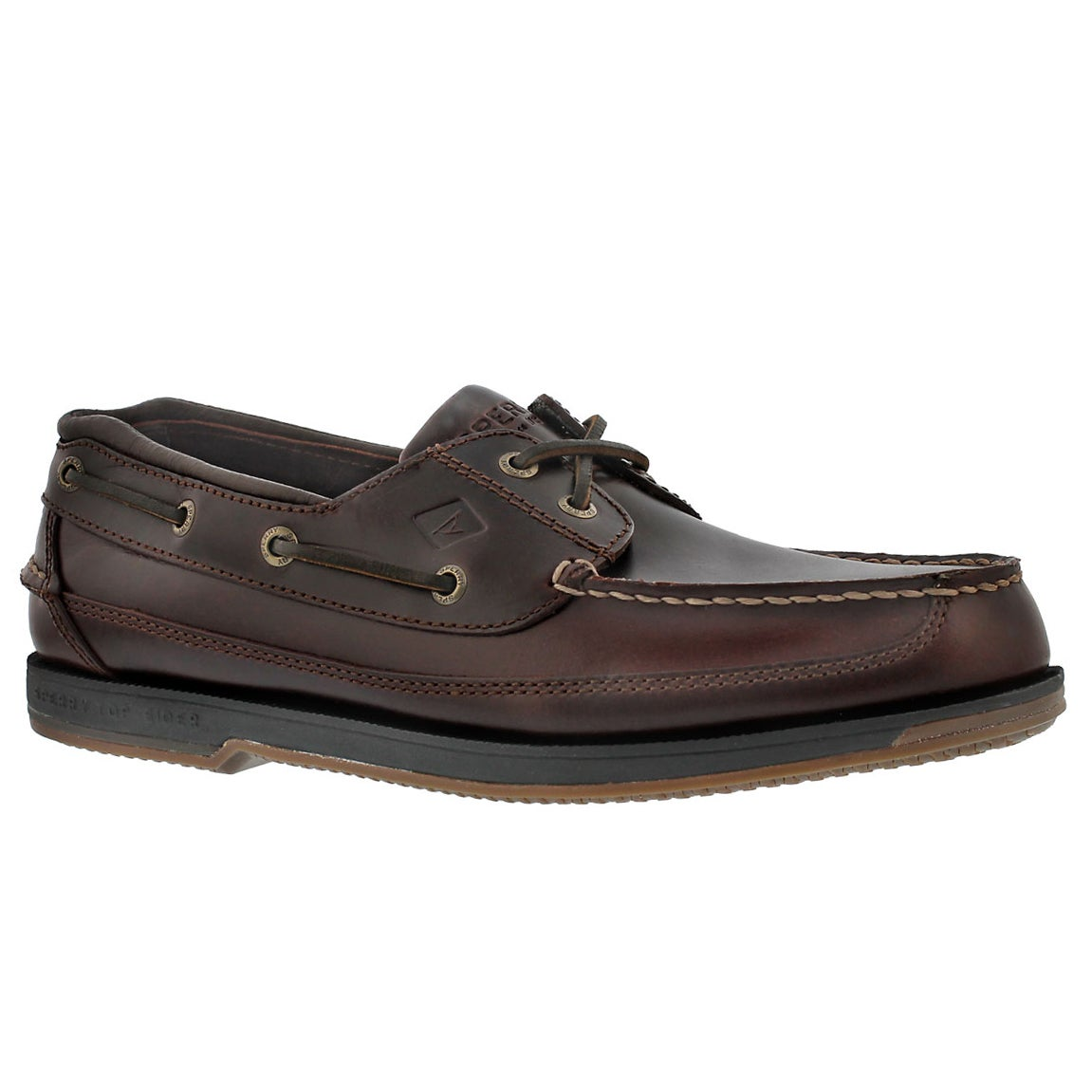 Men's CHARTER 2-Eye amaretto boat shoes