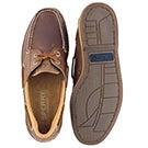 Mns Charter 2-Eye dark tan boat shoe