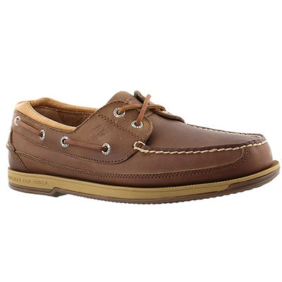 Sperry Men's CHARTER 2-Eye dark tan boat shoes