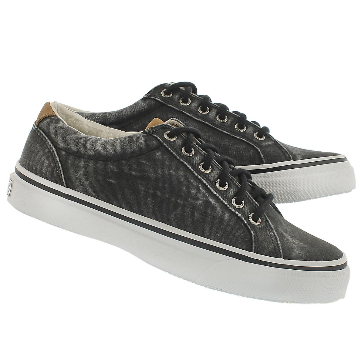 Mns Striper LTT black lace up sneaker