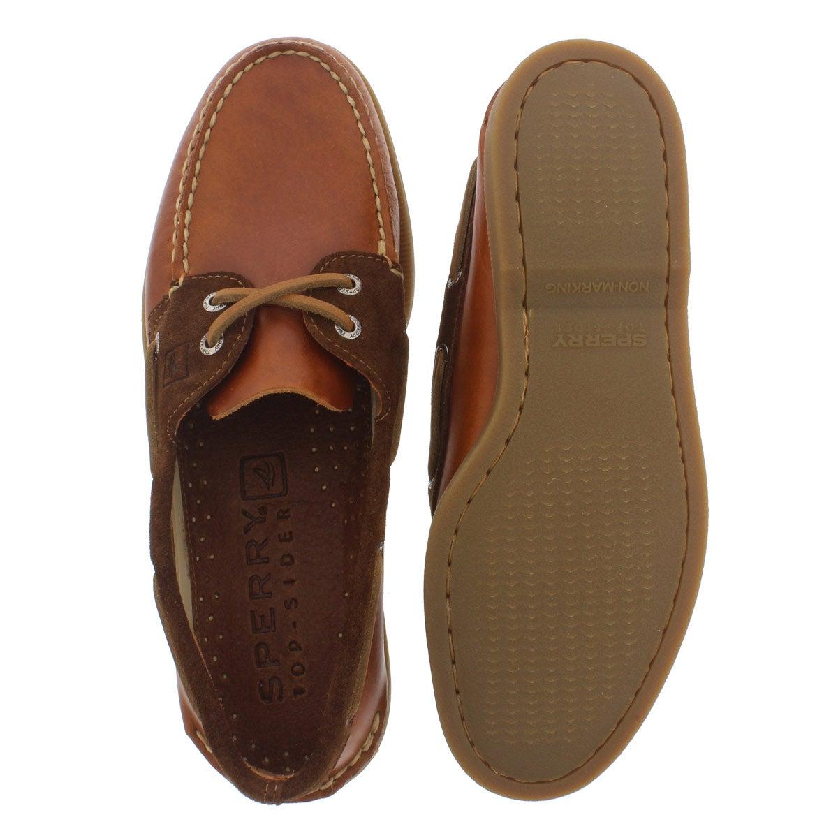 Mns A/0 2-Eye Cyclone tan boat shoe