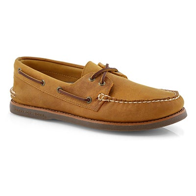 Mns Gold A/O 2-Eye tan/gum boat shoe