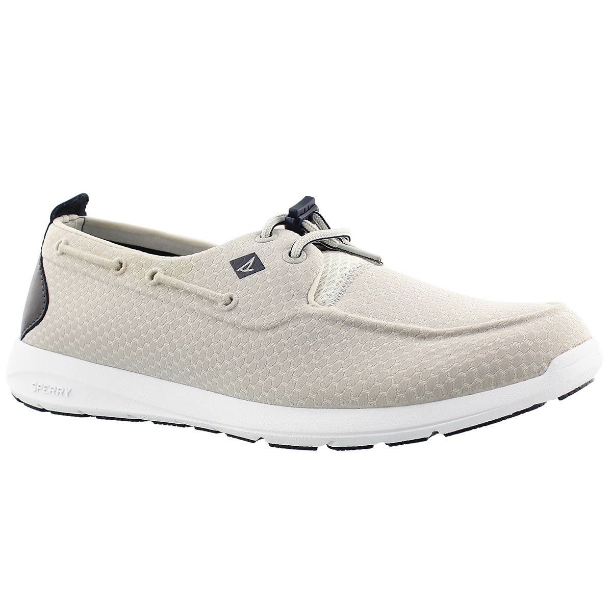 Men's SOJOURN silver molded mesh sneakers