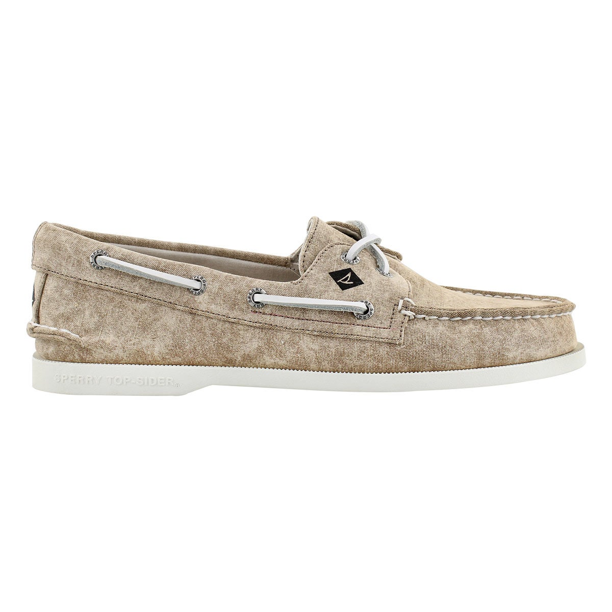 Mns A/O 2-Eye White Cap tan boat shoe