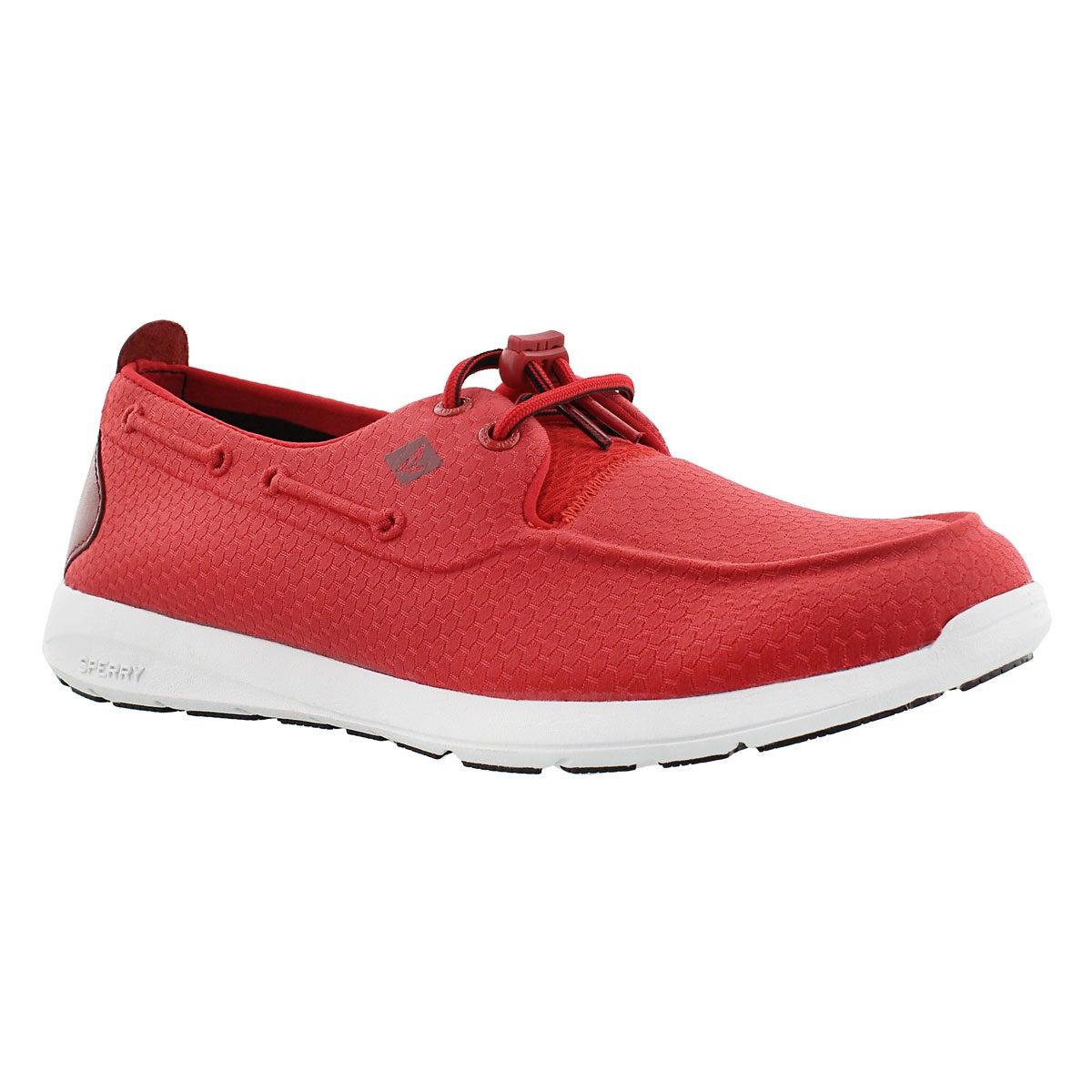 Men's SOJOURN red molded mesh sneakers