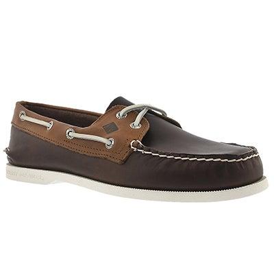 Mns A/O 2-Eye Sarape brn/tan boat shoe