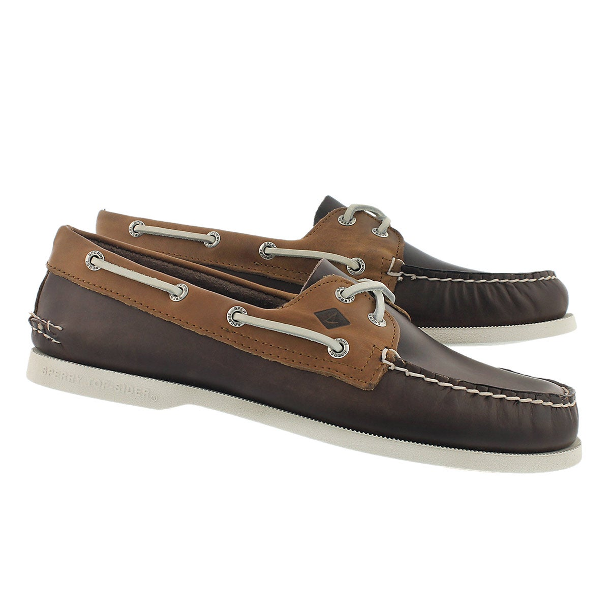 Mns A/O 2-Eye Sarape brn/tan boat shoe
