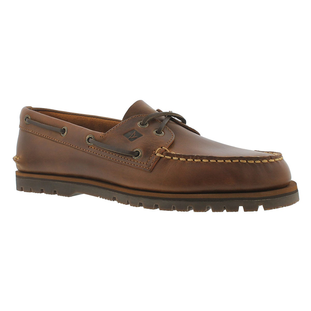 Mns A/O Mini Lug brown 2-eye boat shoe