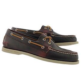 Mns A/O 2-Eye Waterloo burg boat shoe