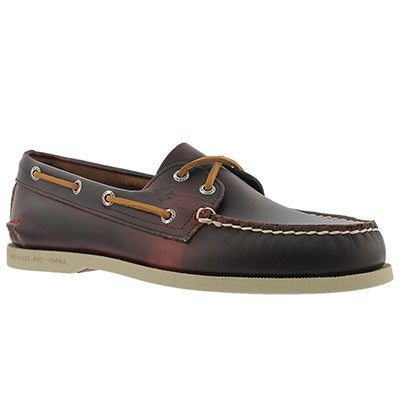 Mns A/O 2-Eye Waterloo burg boat shoe