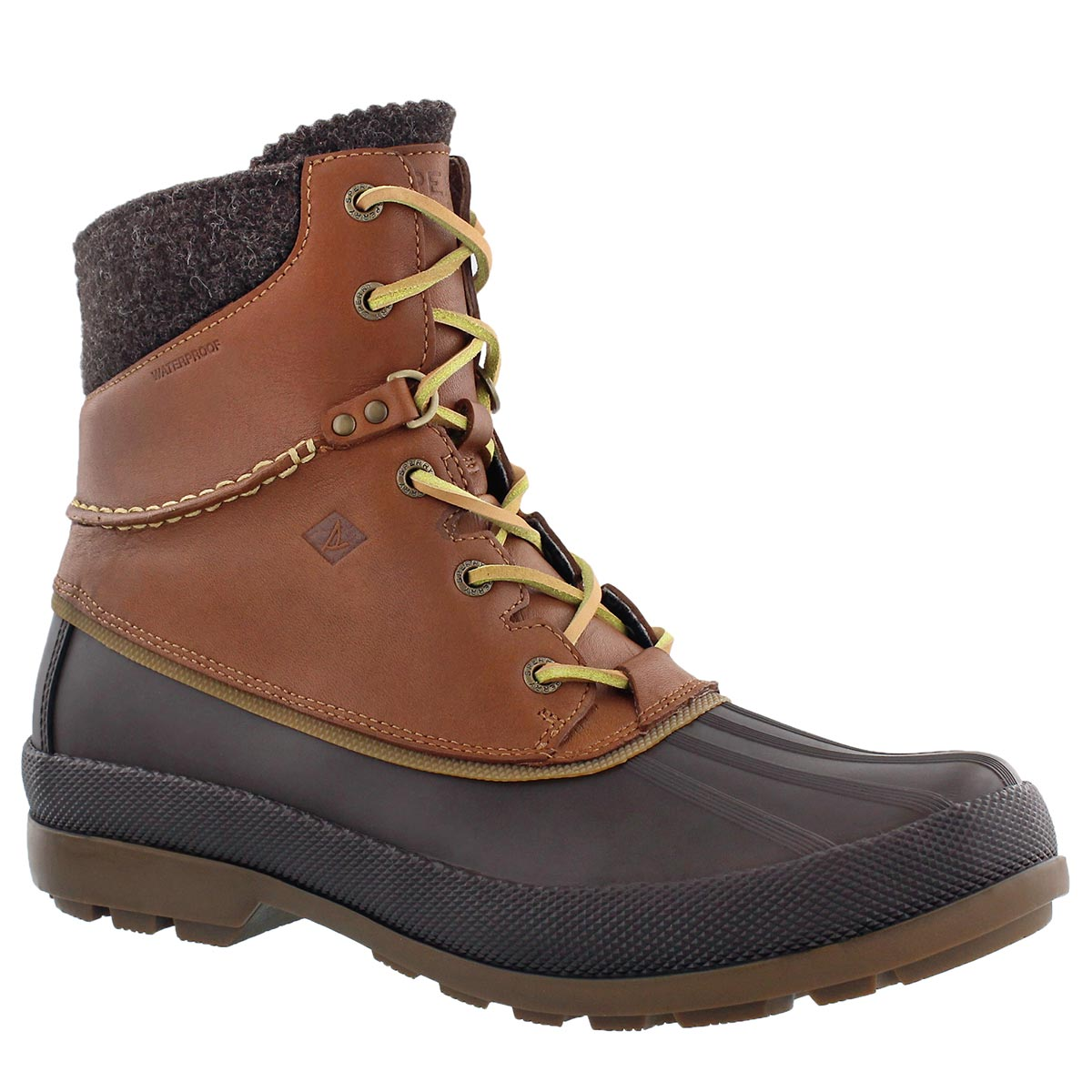 Sperry. Men's COLD BAY tan lined lace up boots