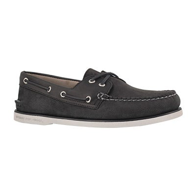 Mns Gold A/O 2-Eye camino blk boat shoe