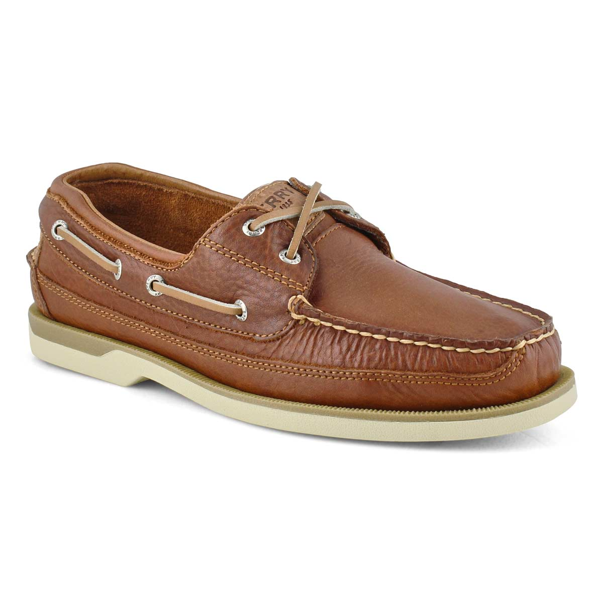 Men's MAKO 2 eye CANOE MOC tan boat shoe