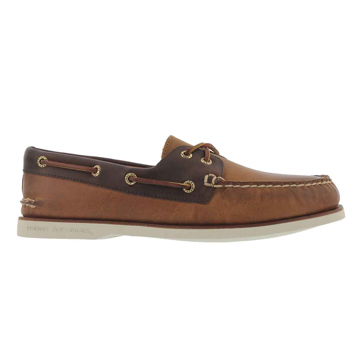 Mns Gold A/O2EyeRoustabout tan boat shoe