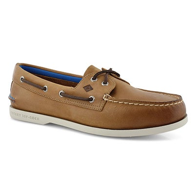 Mns A/O 2 Eye Plush tan boat shoe