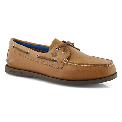 Mns A/O 2 Eye Plush sahara boat shoe