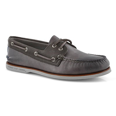 Mns Gold AO 2Eye Fairhaven gry boat shoe