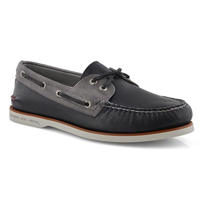 Mns Gold AO 2Eye Fairhaven nvy boat shoe