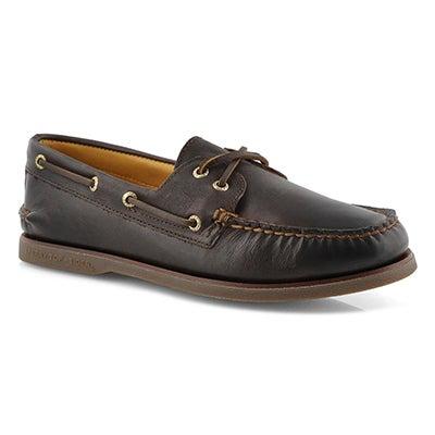 Mns Gold A/O 2-Eye maiden brn boat shoe