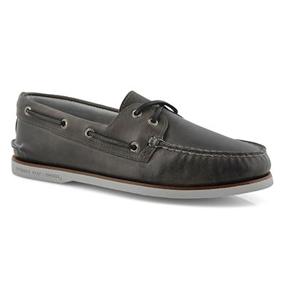Mns Gold A/O 2-Eye maiden gry boat shoe
