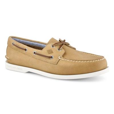 Mns A/O 2Eye Plushwave oatmeal boat shoe