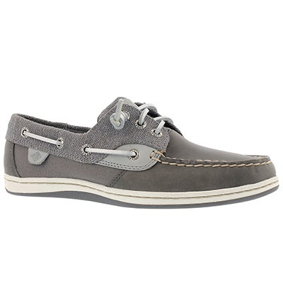 Lds Songfish Sparkle grey boat shoe