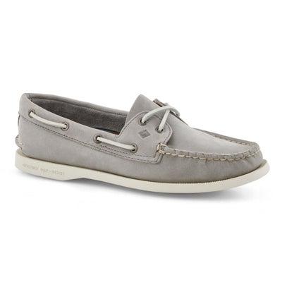 Chaussure bateau A/O 2-eye, gris, fem