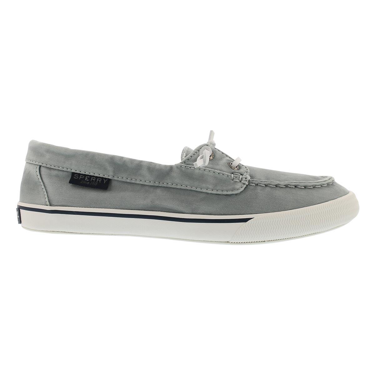 Lds Lounge Away Washed lt blu boat shoe