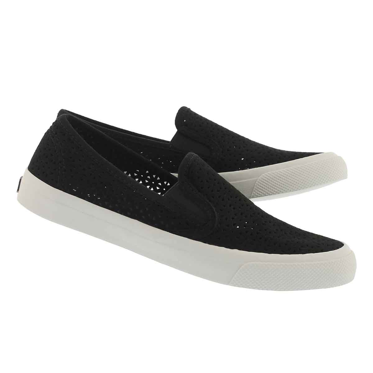Lds Seaside Nautical Perf black slip on