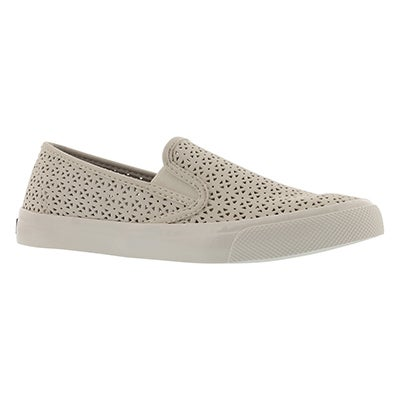 Lds Seaside Nautical Perf ivory slip on