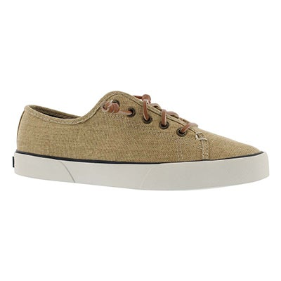 Lds Pier View Heavy Linen nat sneaker