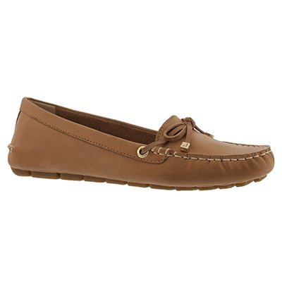 Lds Katharine Leather tan casual slip on
