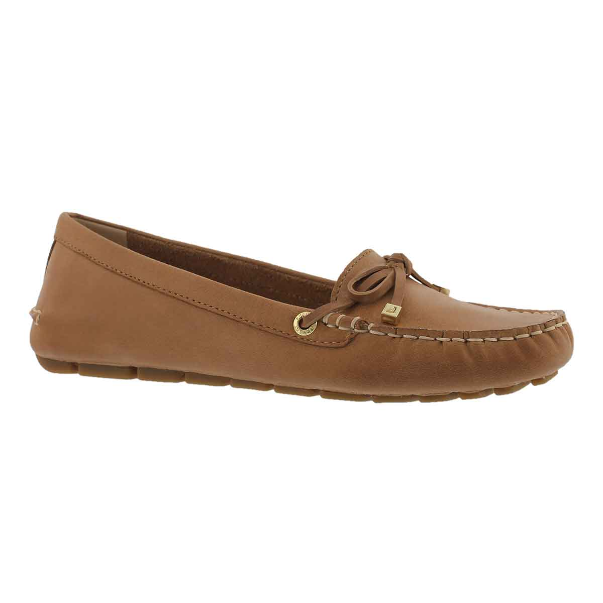 Women's KATHARINE LEATHER tan casual slip ons