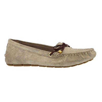 Lds Katharine Leather gld casual slip on