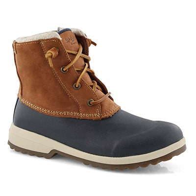 Lds Maritime Repel tan/navy winter boots