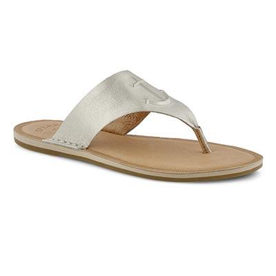 Lds Seaport Thong platinum sandal