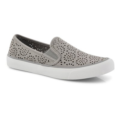 Lds Seaside Perf grey slip on loafers
