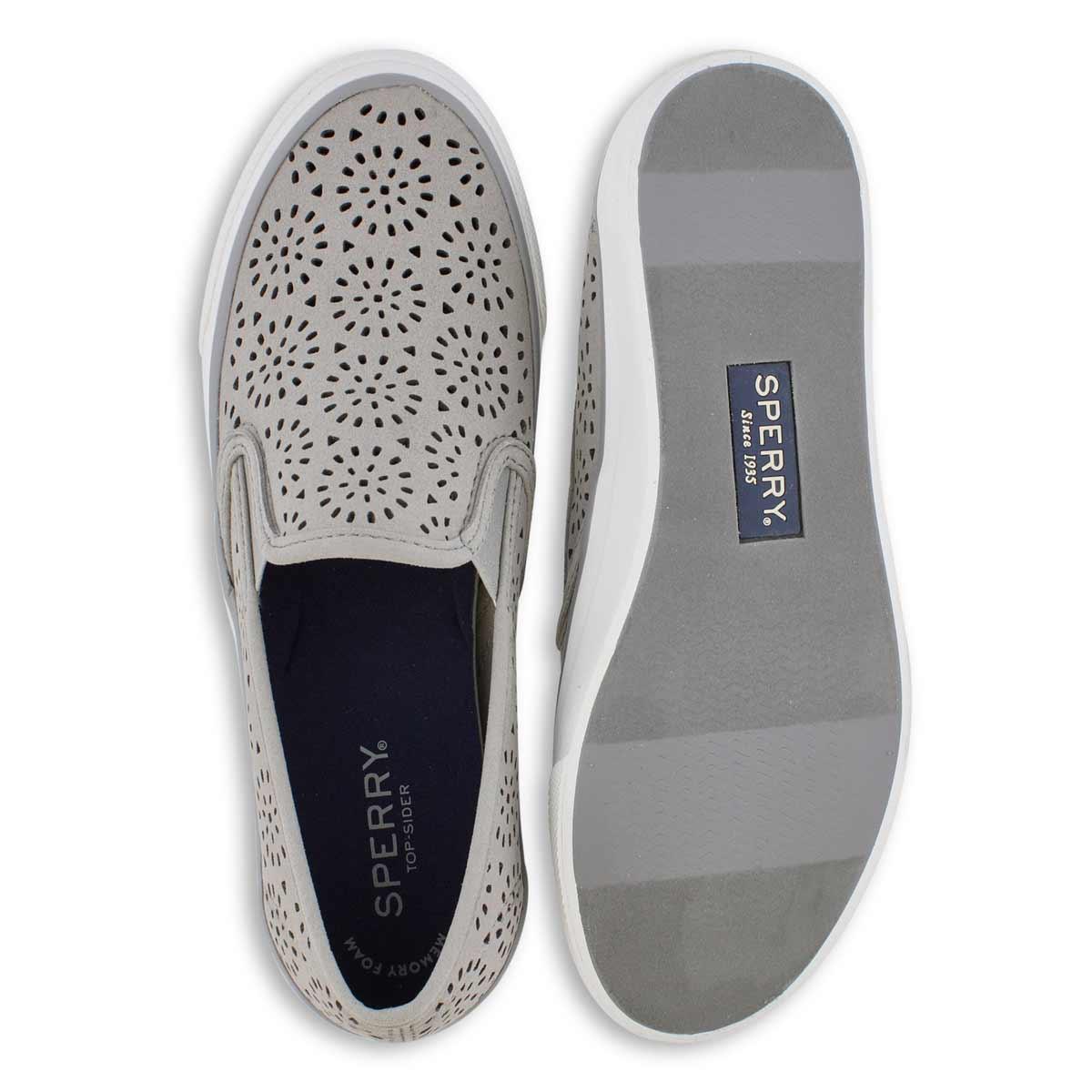 Lds Seaside Perf grey slip on loafers