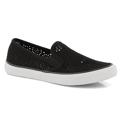 Lds Seaside Perf black slip on loafers